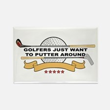 Golfers Putter Around Rectangle Magnet