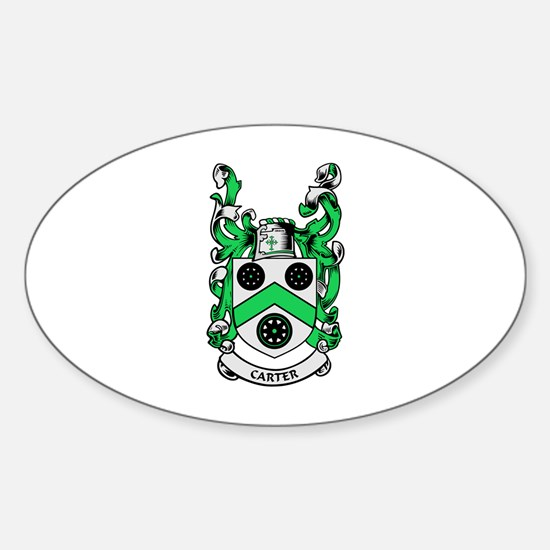 CARTER Coat of Arms Oval Decal