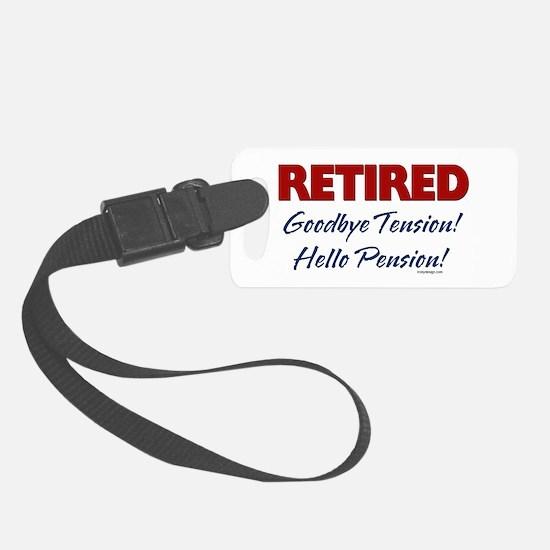Retired Goodbye Tension Luggage Tag