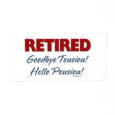 Retired Goodbye Tension Aluminum License Plate