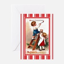 Children Painting Antiqu Greeting Cards (Pk of 20)