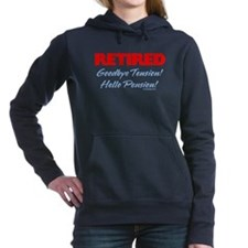 Retired Goodbye Tension Women's Hooded Sweatshirt