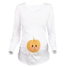 Lil' Punkin Long Sleeve Maternity T-Shirt