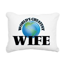 World's Greatest Wife Rectangular Canvas Pillow