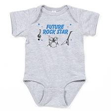 Future Rockstar Gray Infant Baby Bodysuit