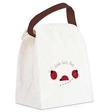 Little Lady Bug Canvas Lunch Bag