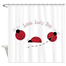 Little Lady Bug Shower Curtain