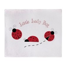 Little Lady Bug Throw Blanket