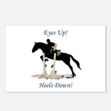 Eyes Up! Heels Down! Hors Postcards (Package of 8)