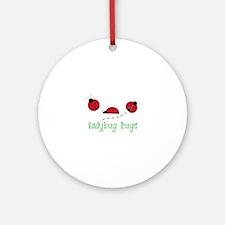 Ladybug Hug Ornament (Round)