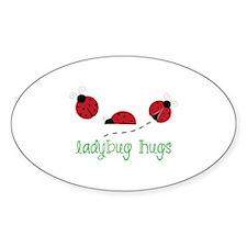 Ladybug Hug Decal