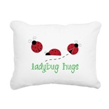Ladybug Hug Rectangular Canvas Pillow