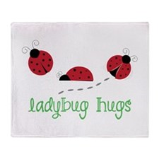 Ladybug Hug Throw Blanket