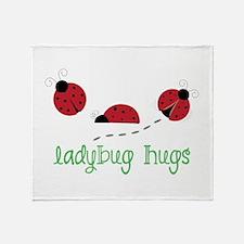 Ladybug Hug Throw Blanket