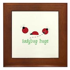 Ladybug Hug Framed Tile