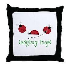 Ladybug Hug Throw Pillow