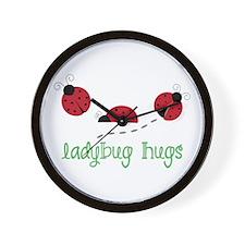 Ladybug Hug Wall Clock
