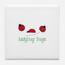 Ladybug Hug Tile Coaster