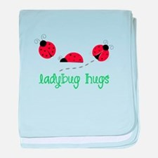 Ladybug Hug baby blanket