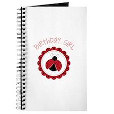 Ladybug Birthday Girl Journal
