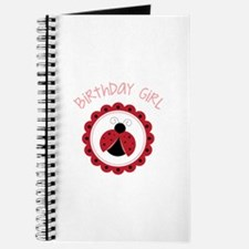 Ladybug Birthday Girl Journal