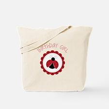 Ladybug Birthday Girl Tote Bag