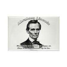 Abraham Lincoln 04 Rectangle Magnet