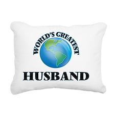 World's Greatest Husband Rectangular Canvas Pillow