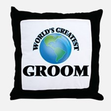 World's Greatest Groom Throw Pillow