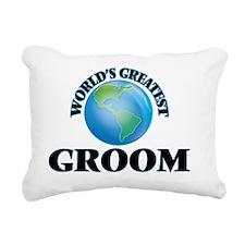World's Greatest Groom Rectangular Canvas Pillow