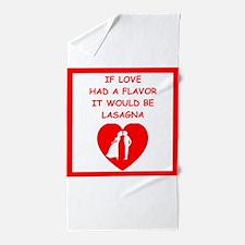 lasagna Beach Towel