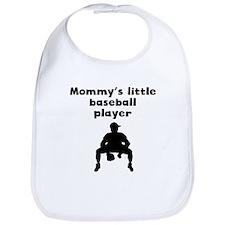Mommys Little Baseball Player Bib