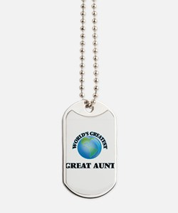 World's Greatest Great Aunt Dog Tags