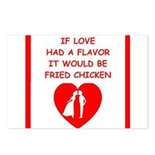 fried chicken lover Postcards (Package of 8)