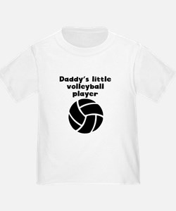 Daddys Little Volleyball Player T-Shirt