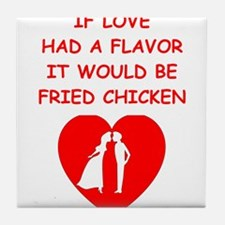 fried chicken lover Tile Coaster