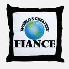 World's Greatest Fiance Throw Pillow