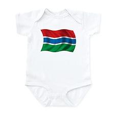 Wavy Gambia Flag Infant Bodysuit