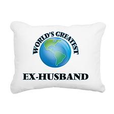 World's Greatest Ex-Husb Rectangular Canvas Pillow