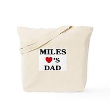Miles loves dad Tote Bag
