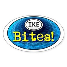 IKE BITES Oval Decal