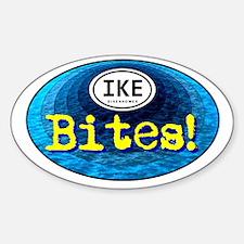 IKE BITES Oval Decal