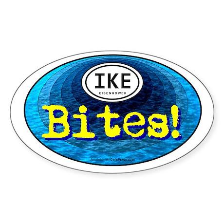 IKE BITES Oval Sticker