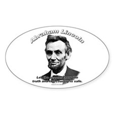 Abraham Lincoln 03 Oval Decal