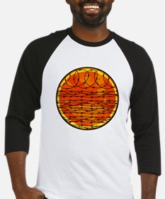 Barbed Wire at Sunset Baseball Jersey
