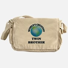 World's Greatest Twin Brother Messenger Bag