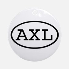 AXL Oval Ornament (Round)