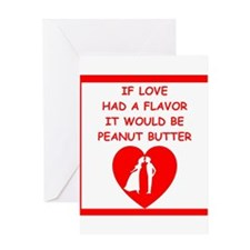 peanut butter lover Greeting Cards