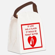 peanut butter lover Canvas Lunch Bag