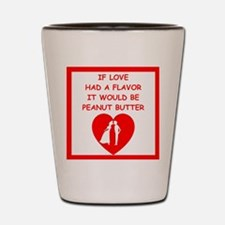 peanut butter lover Shot Glass